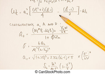 Equations - mathmatical equations from a calculation of...
