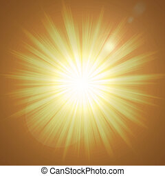 Blinding Light - colorful background made from orange and...