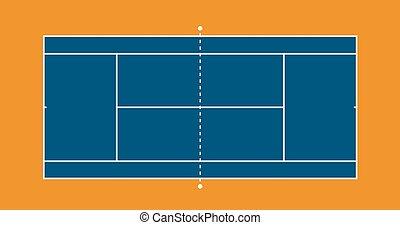 Tennis court illustration - Tennis hard court illustration....