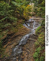 Bridal Veil Falls - Beautiful autumn scene at Bridal Veil...