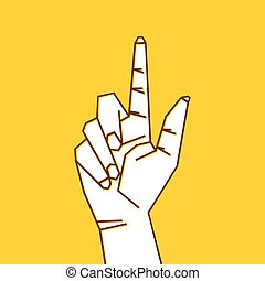 finger pointing up