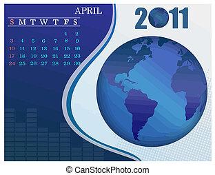 April Bussines Calendar.