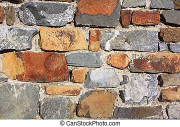 gray old stone wall