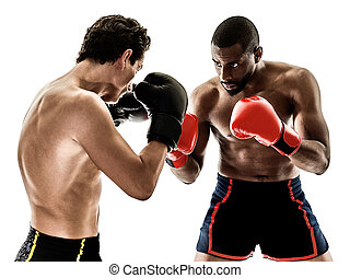 boxer boxing men isolated people