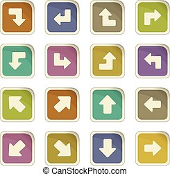Arrows icons set - Arrows icon set for web sites and user...