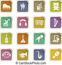 Childrens toys icons set - Childrens toys icon set for web...