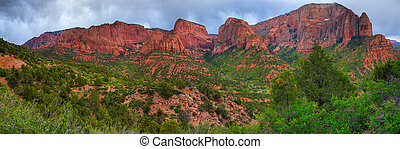 Zion National Park - Kolob Canyons - northwestern part of...