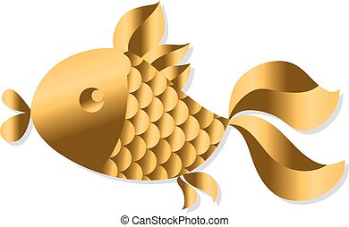 gold fish Art Nouveau style vector illustration