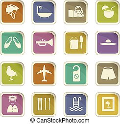 Travel icons set - Travel icon set for web sites and user...