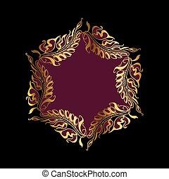 purpur wreath Art Nouveau style vector illustration