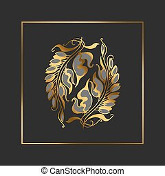 Art Nouveau style vector illustration element