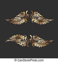 Art Nouveau style decor element (vector illustration)