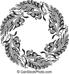 gray Art Nouveau style vector illustration