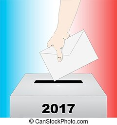 French presidential election vector illustration - Election...