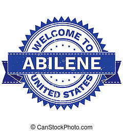 WELCOME TO City ABILENE Country UNITED STATES. Stamp....