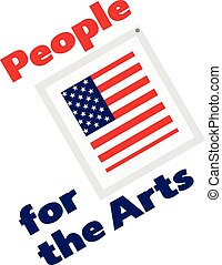 People for the arts vector illustration