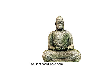 Budda statue - 3d illustration of a Budda staue isolated on...