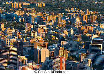 Santiago de Chile - View of buildings at Providencia...
