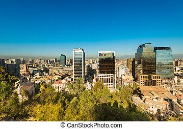 Downtown Santiago - Skyline of downtown Santiago de Chile