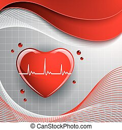 Heart shape on the abstract colorful background. Vector...
