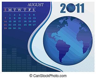 August Bussines Calendar.