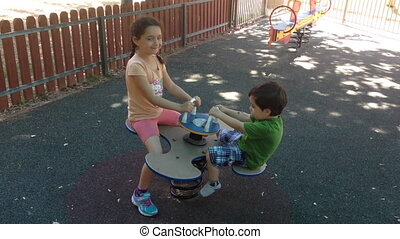 children in playground - Shot of children in playground