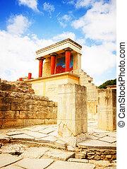 Knossos palace at Crete, Greece - ancient ruines of Knossos...