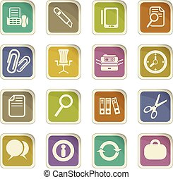 business icon set - business vector icons for user interface...