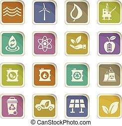 alternative energy icon set - alternative energy vector...