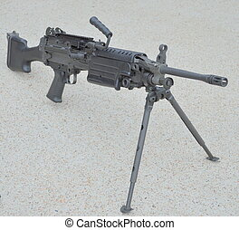 M249 Squad Automatic Weapon - A USMC Squad Automatic Weapon...