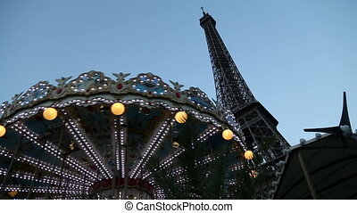 Carousel in paris - Shot of Carousel in paris