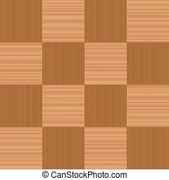 Wooden Checkerboard Pattern Parquetry - Checkerboard pattern...