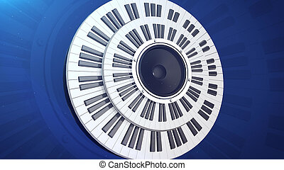 Grand Piano Keys - 3d rendering of Beautiful Grand Piano...