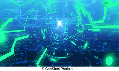 Technology Tunnel from imitation of circuit board