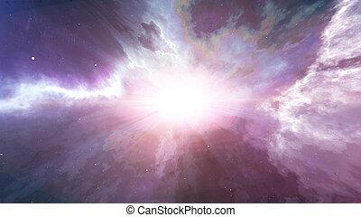 Big Bang explosion - Abstract Big Bang explosion of a star...