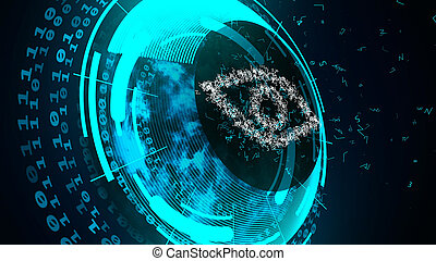 Internet technology security concept. - Abstract cyber...