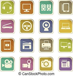 device icon set - device vector icons for user interface...
