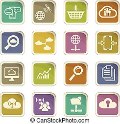 data analytic icon set - data analytic vector icons for user...