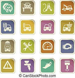 car service icon set - car service vector icons for user...