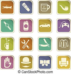 father day icon set - father day vector icons for user...