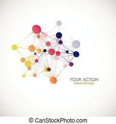 Network, connect or molecule set. Vector illustration for you idea
