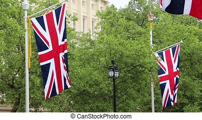 british flags - Shot of british flags