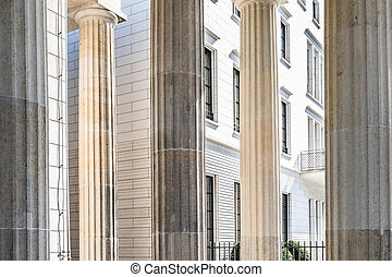 building facade historic columns