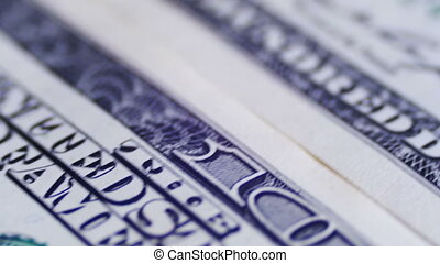 American Money Dollars on Rotating Surface Background, value...