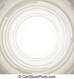 Concentric circles abstract element.