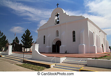 San Elizario Chapel - Historic San Elizario Chapel Along the...
