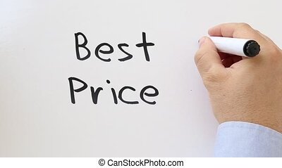Best Price Whiteboard writing animation - Shot of Best Price...