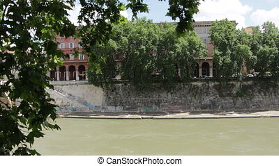 Banks of the Tiber - Shot of Banks of the Tiber