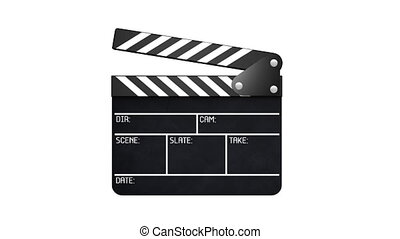 Clapperboard with alpha - 2 parts  - Cinema concept