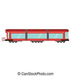 train rail wagon transport vector illustration eps 10